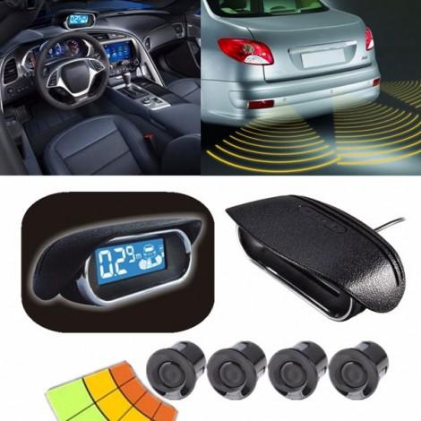 Четирисензорна система за безопасно паркиране с LED дисплей