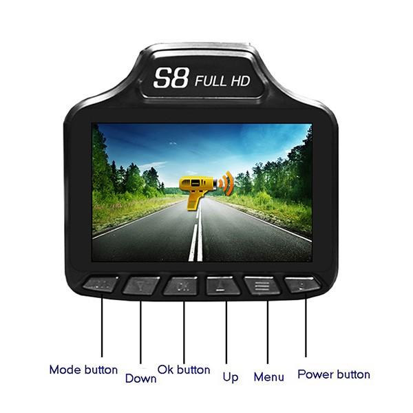 S8 видеорегистратор с радар за скорост AC59 5