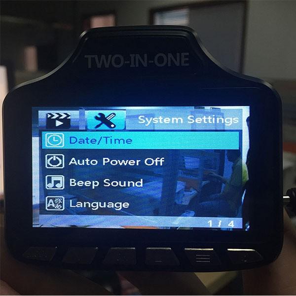 S8 видеорегистратор с радар за скорост AC59 6