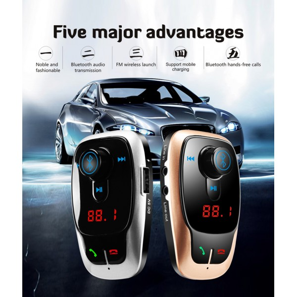 BL106 Bluetooth FM трансмитер за кола HF15 3