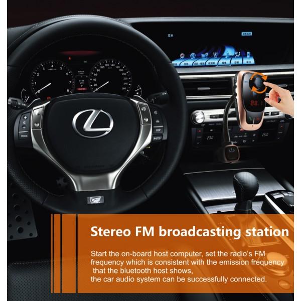 BL106 Bluetooth FM трансмитер за кола HF15 5