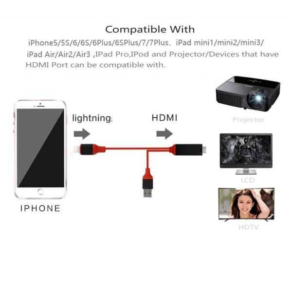 HDMI преходник за Iphone и Ipad CA111 9