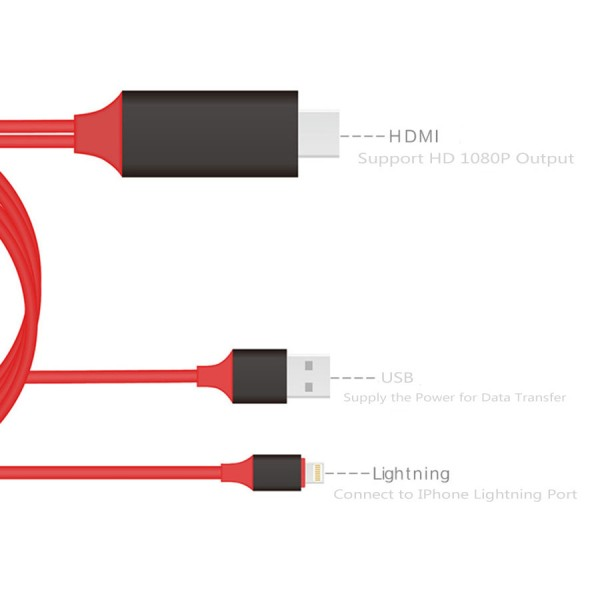 HDMI преходник за Iphone и Ipad CA111 16