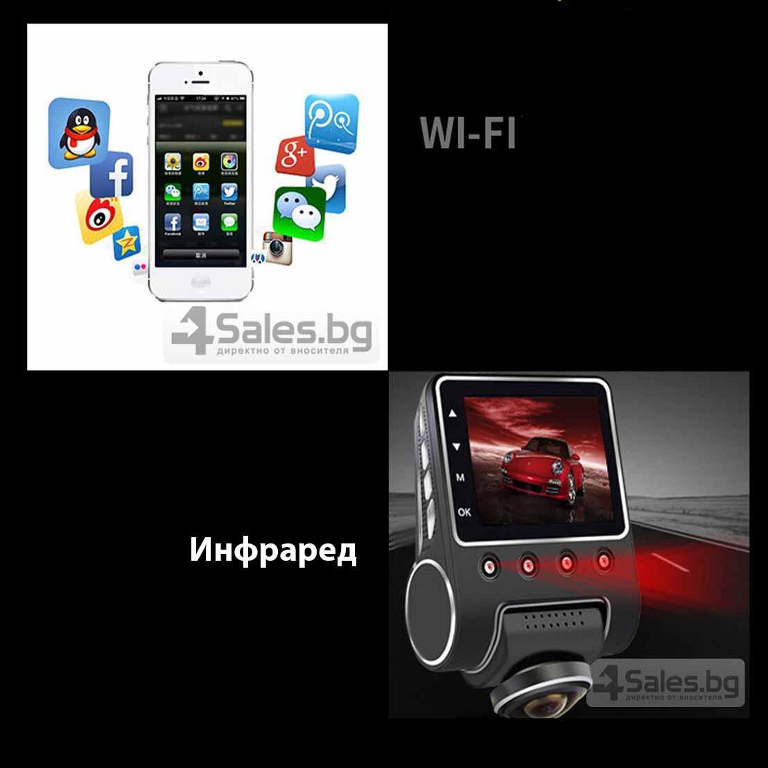 Камера за кола с Wi Fi 360 градусово заснемане, паркинг и нощен запис AC56-1 19