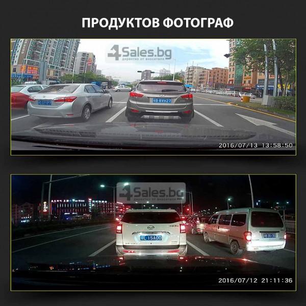 Видеорегистратор с две камери + WiFi и 1080p качество AC41 8
