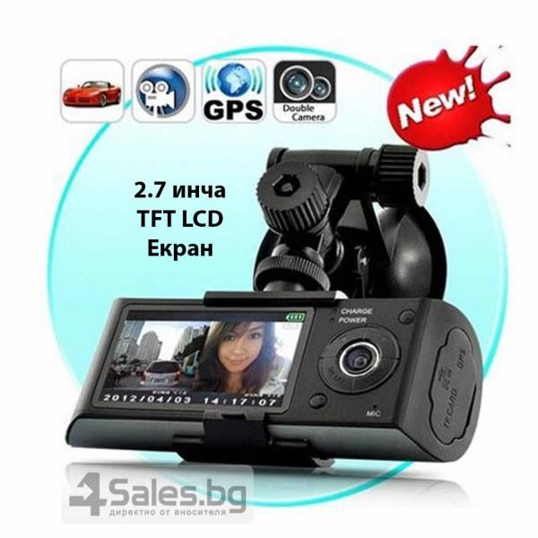 Видеорегистратор с 2 камери X3000 R300 с 2.7 GPS AC42 14