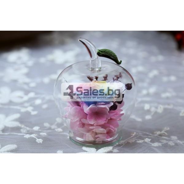 Вечна Роза в стъклена ябълка YSH F 2