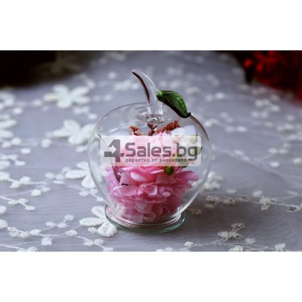 Вечна Роза в стъклена ябълка YSH F 7