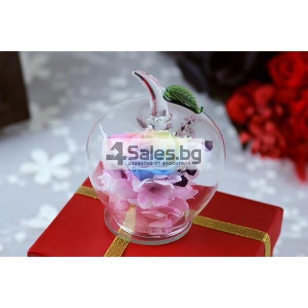 Вечна Роза в стъклена ябълка YSH F 8