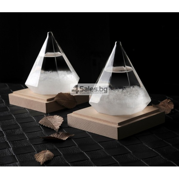 Буреносно стъкло - Диамант призма Уникален подарък TQY6 2