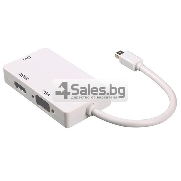 Mini Displayport към HDMI - VGA - DVI адаптер CA109 8