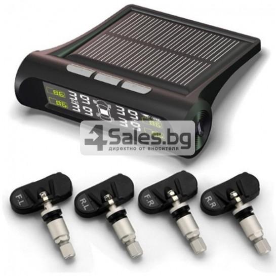 Датчик за налягане на гуми с монитор, сензор за отмерване и 4 вентила GUMI ALARM1