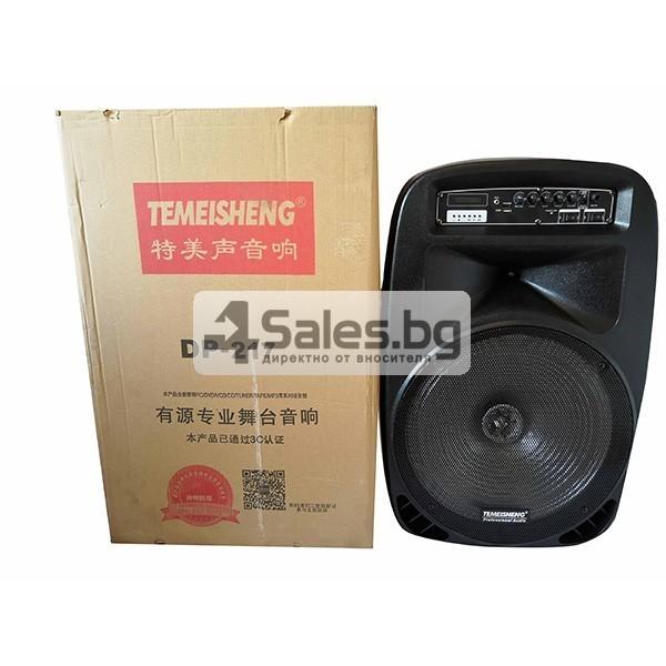 Колона Temeisheng DP-217 Преден контрол -15 инча говорител и 2 микрофон 13
