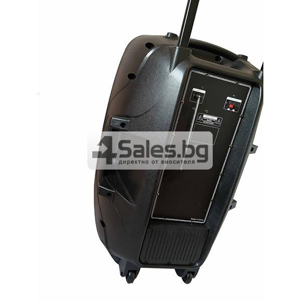 Колона Temeisheng DP-217 Преден контрол -15 инча говорител и 2 микрофон 9
