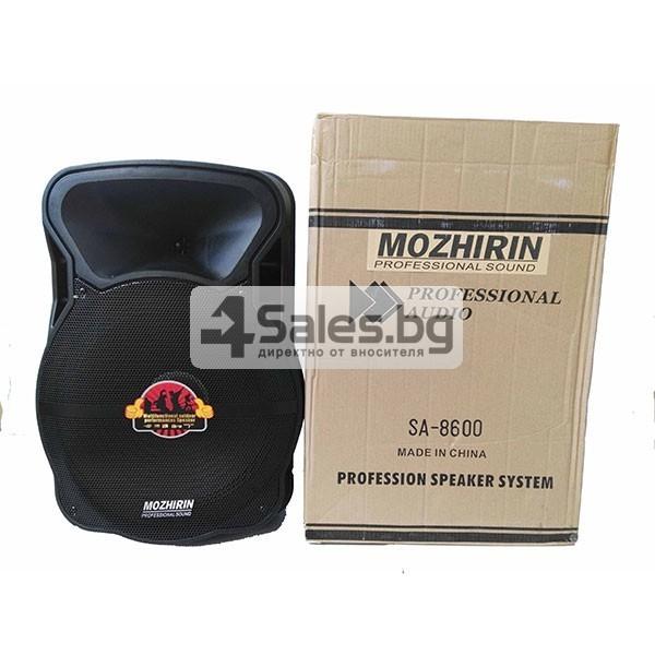 Тонколона Mozhirin SA8600-6 - 15 инча с 2 микрофона и цветомузика 9