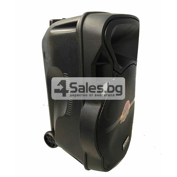 Тонколона Mozhirin SA8600-6 - 15 инча с 2 микрофона и цветомузика 3