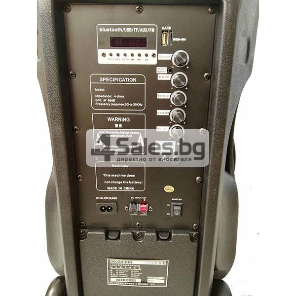 Тонколона Mozhirin SA8600-6 - 15 инча с 2 микрофона и цветомузика 2