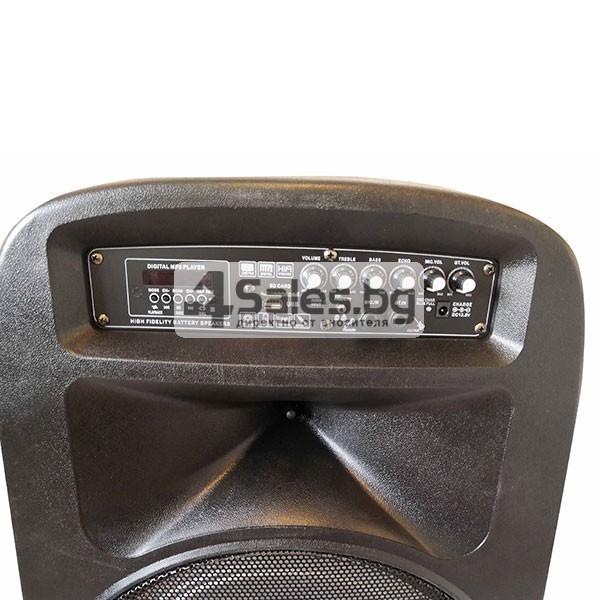 Тонколона Avcrowns V15 15 инча- два микрофона-Контрол отпред - Нов модел 4