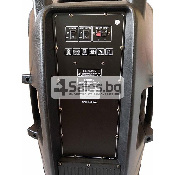 Тонколона Avcrowns V15 15 инча- два микрофона-Контрол отпред - Нов модел 9