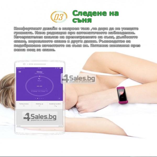 Смарт гривна M99 с цветен екран, измерва сърдечен ритъм и кръвно налягане SMW26 24