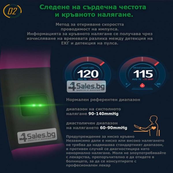 Смарт гривна M99 с цветен екран, измерва сърдечен ритъм и кръвно налягане SMW26 27