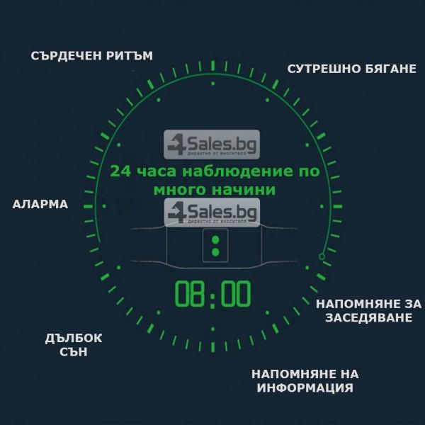 Смарт гривна M99 с цветен екран, измерва сърдечен ритъм и кръвно налягане SMW26 29
