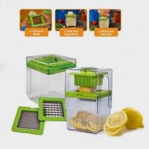 Ръчно ренде - слайсър за рязане на хранителни продукти с две приставки