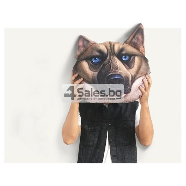 Плюшена възглавница с 3D принт на различни породи кучета 2