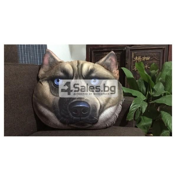 Плюшена възглавница с 3D принт на различни породи кучета 4