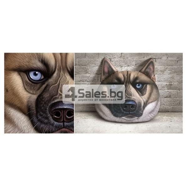 Плюшена възглавница с 3D принт на различни породи кучета 5