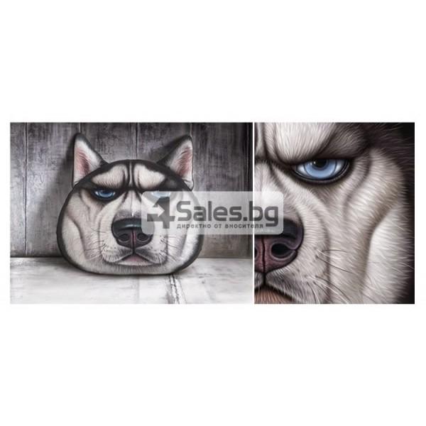 Плюшена възглавница с 3D принт на различни породи кучета 7