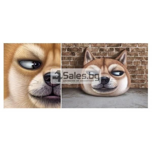 Плюшена възглавница с 3D принт на различни породи кучета 8