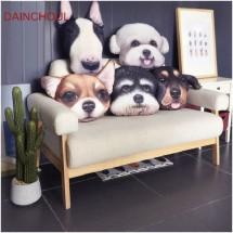 Реалистична декоративна възглавница с дигитален принт на любимата порода куче