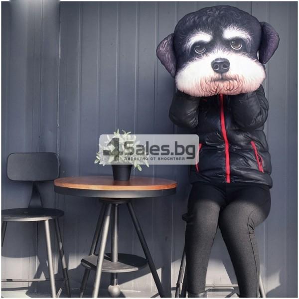 Реалистична декоративна възглавница с дигитален принт на любимата порода куче 3