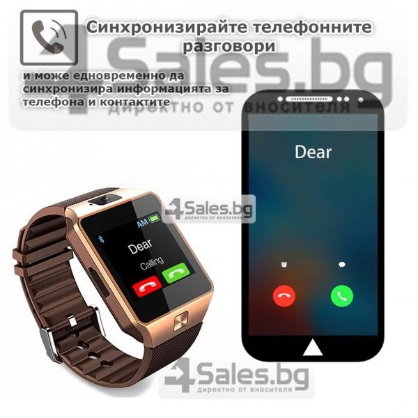 Смарт Часовник телефон с камера и сим карта Оригинален продукт dz09 на Български 34