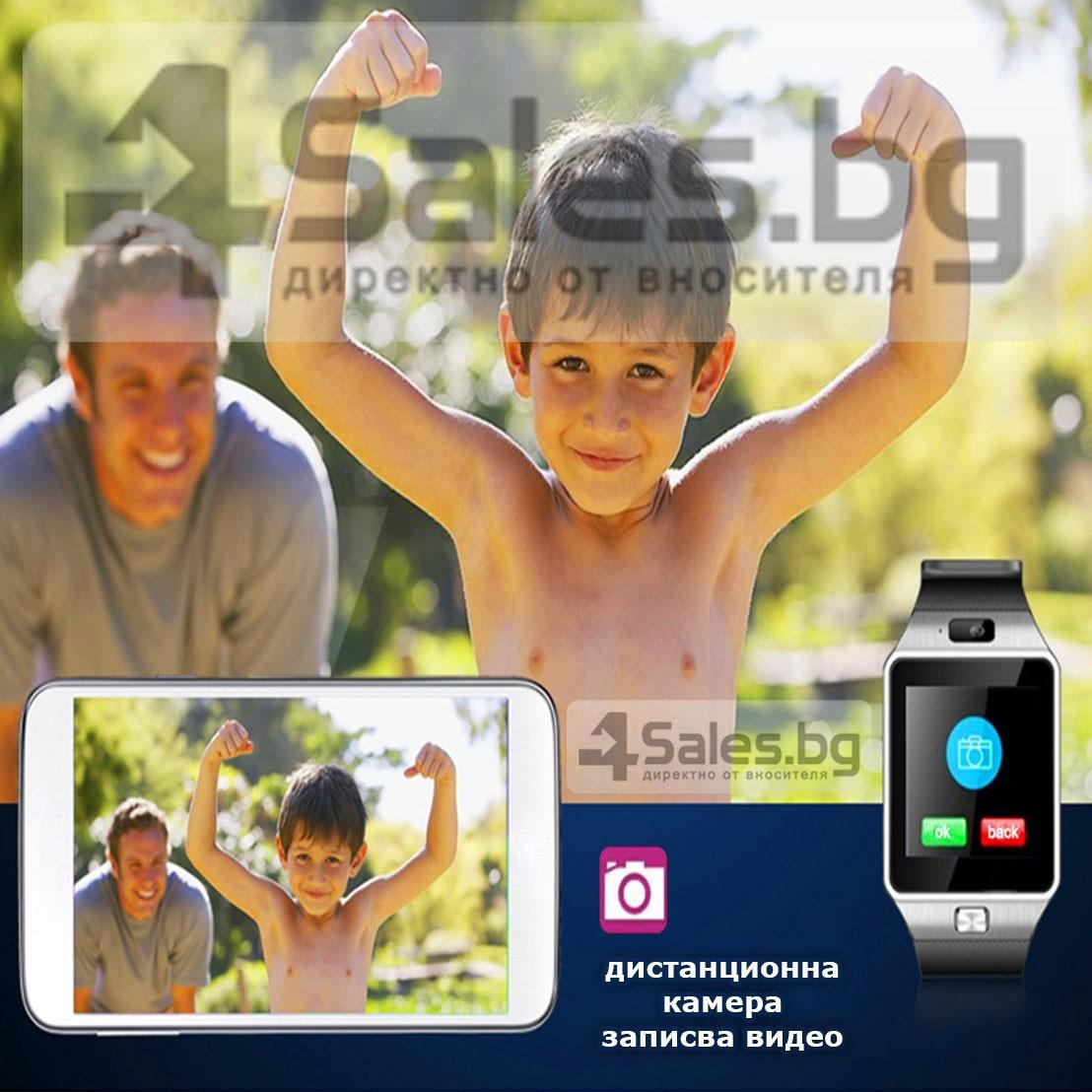 Смарт Часовник телефон с камера и сим карта Оригинален продукт dz09 на Български 39