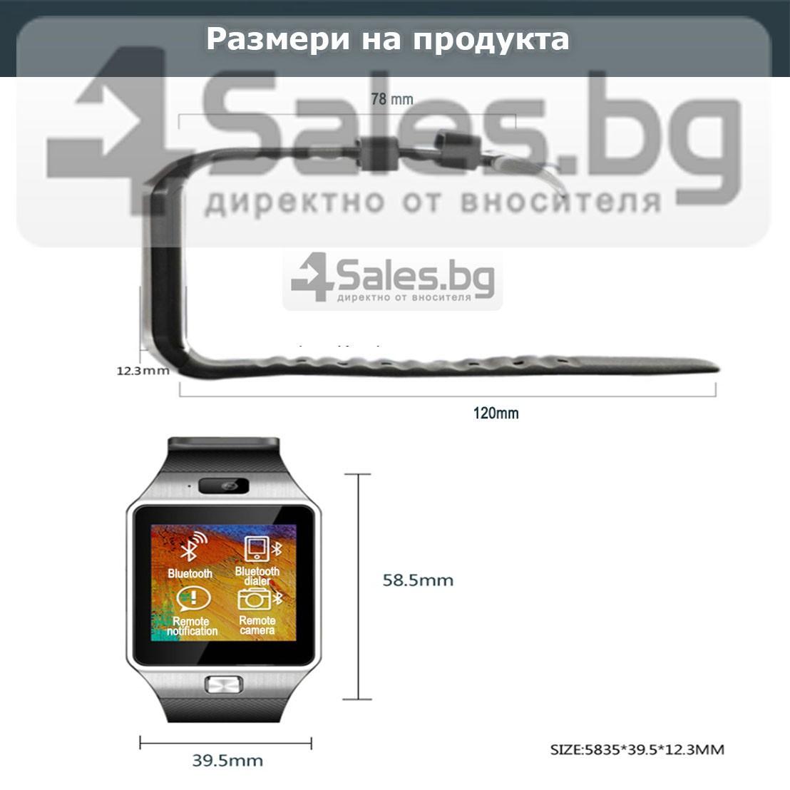 Смарт Часовник телефон с камера и сим карта Оригинален продукт dz09 на Български 41