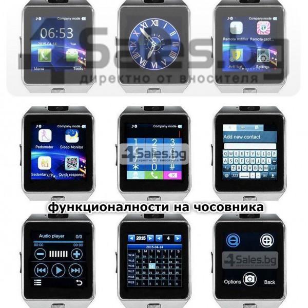 Смарт Часовник телефон с камера и сим карта Оригинален продукт dz09 на Български 42