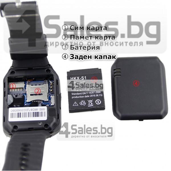 Смарт Часовник телефон с камера и сим карта Оригинален продукт dz09 на Български 43