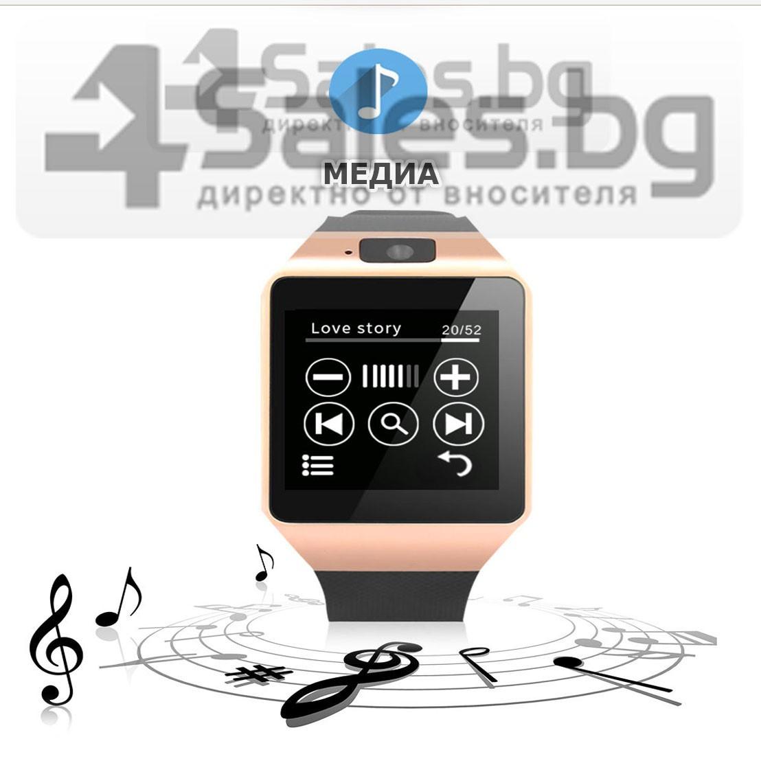 Смарт Часовник телефон с камера и сим карта Оригинален продукт dz09 на Български 47