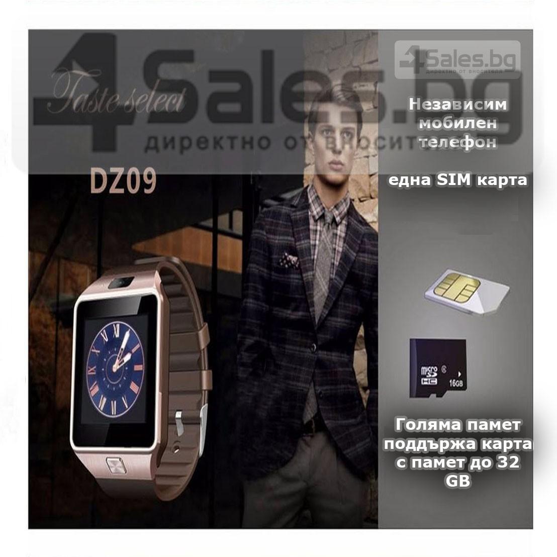 Смарт Часовник телефон с камера и сим карта Оригинален продукт dz09 на Български 49