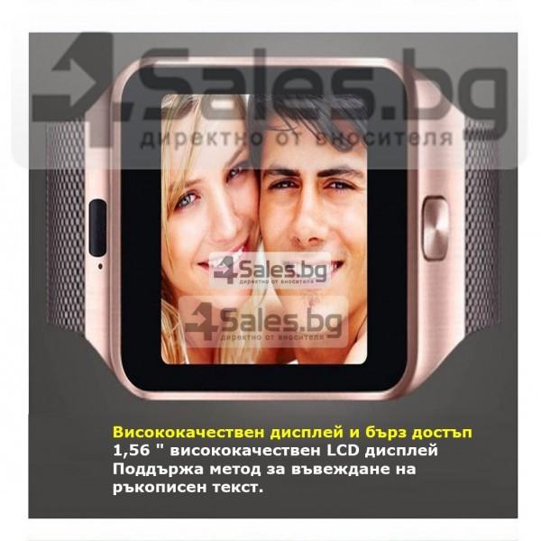 Смарт Часовник телефон с камера и сим карта Оригинален продукт dz09 на Български 51