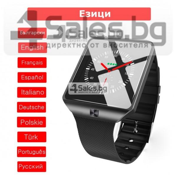 Смарт Часовник телефон с камера и сим карта Оригинален продукт dz09 на Български 53