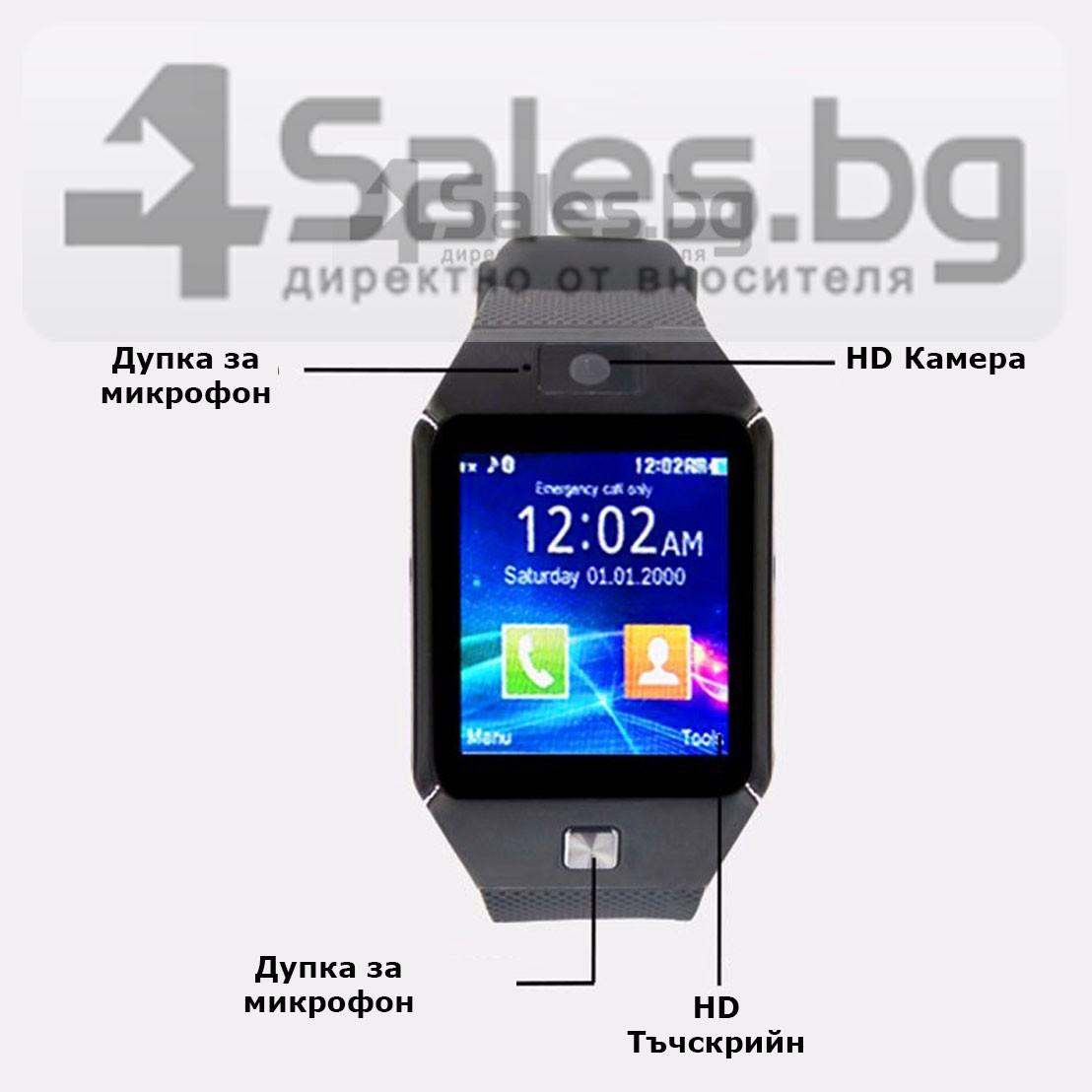 Смарт Часовник телефон с камера и сим карта Оригинален продукт dz09 на Български 58