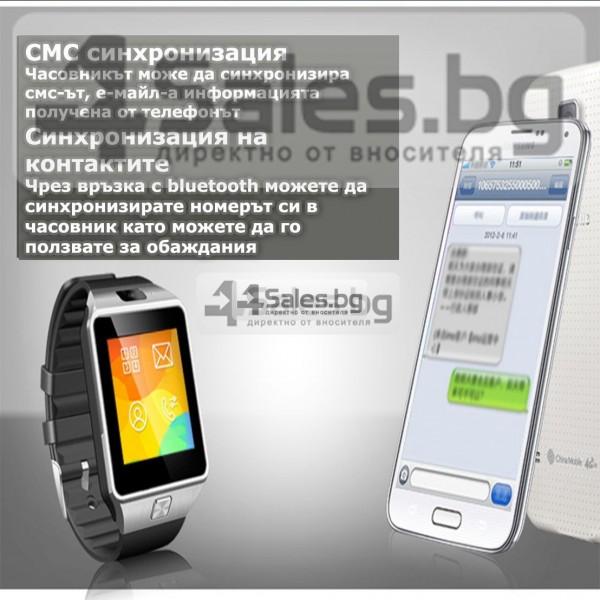 Смарт Часовник телефон с камера и сим карта Оригинален продукт dz09 на Български 63