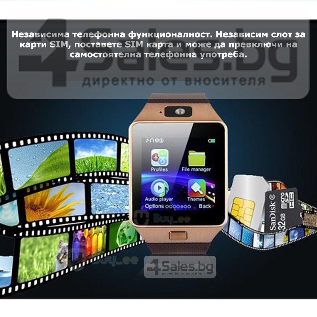 Смарт Часовник телефон с камера и сим карта Оригинален продукт dz09 на Български 66