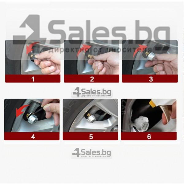 Датчик за налягане на гуми с монитор, сензор за отмерване и 4 вентила GUMI ALARM1 11