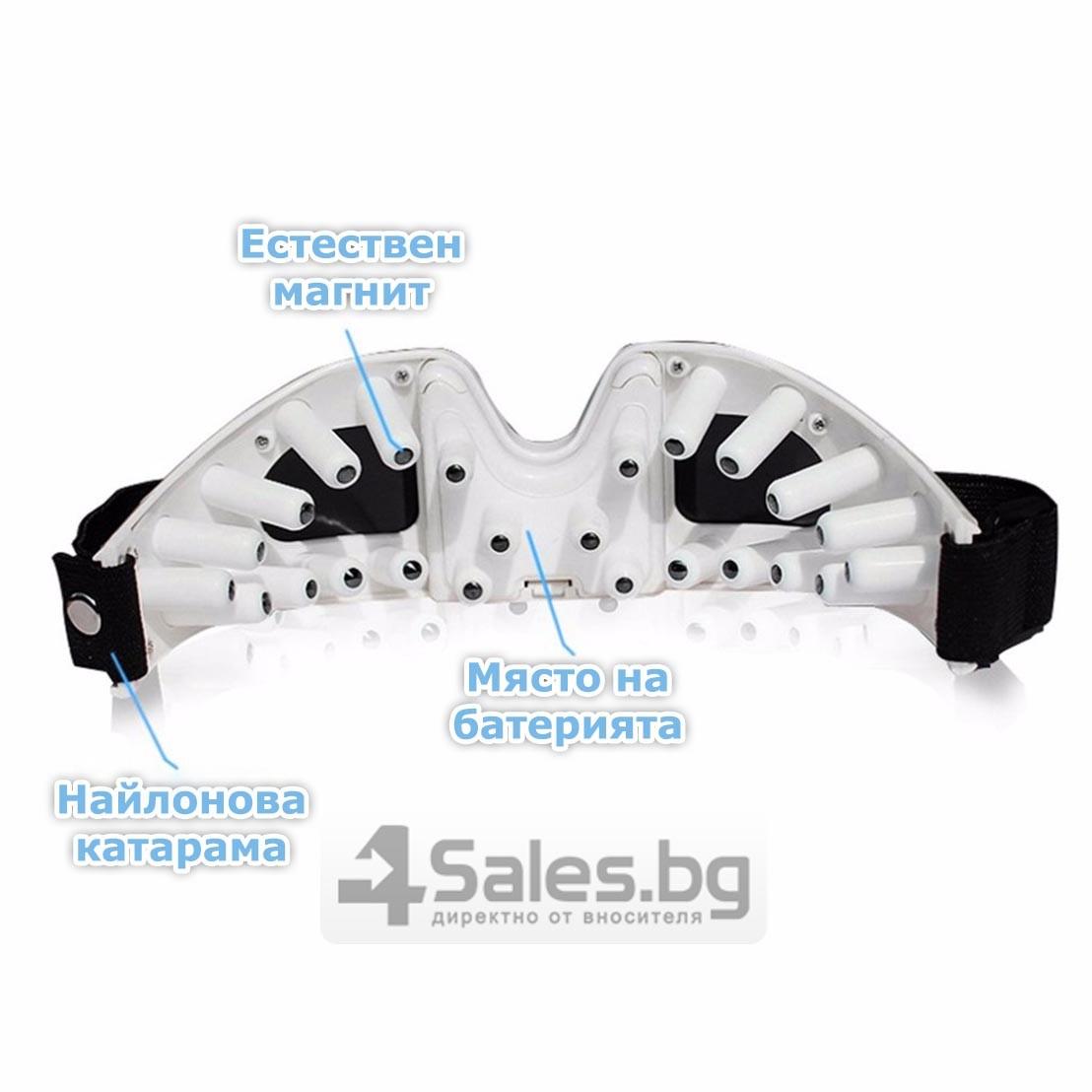 Акупунктурен масажор за очи с вибрации и регулираща се лента TV75 12