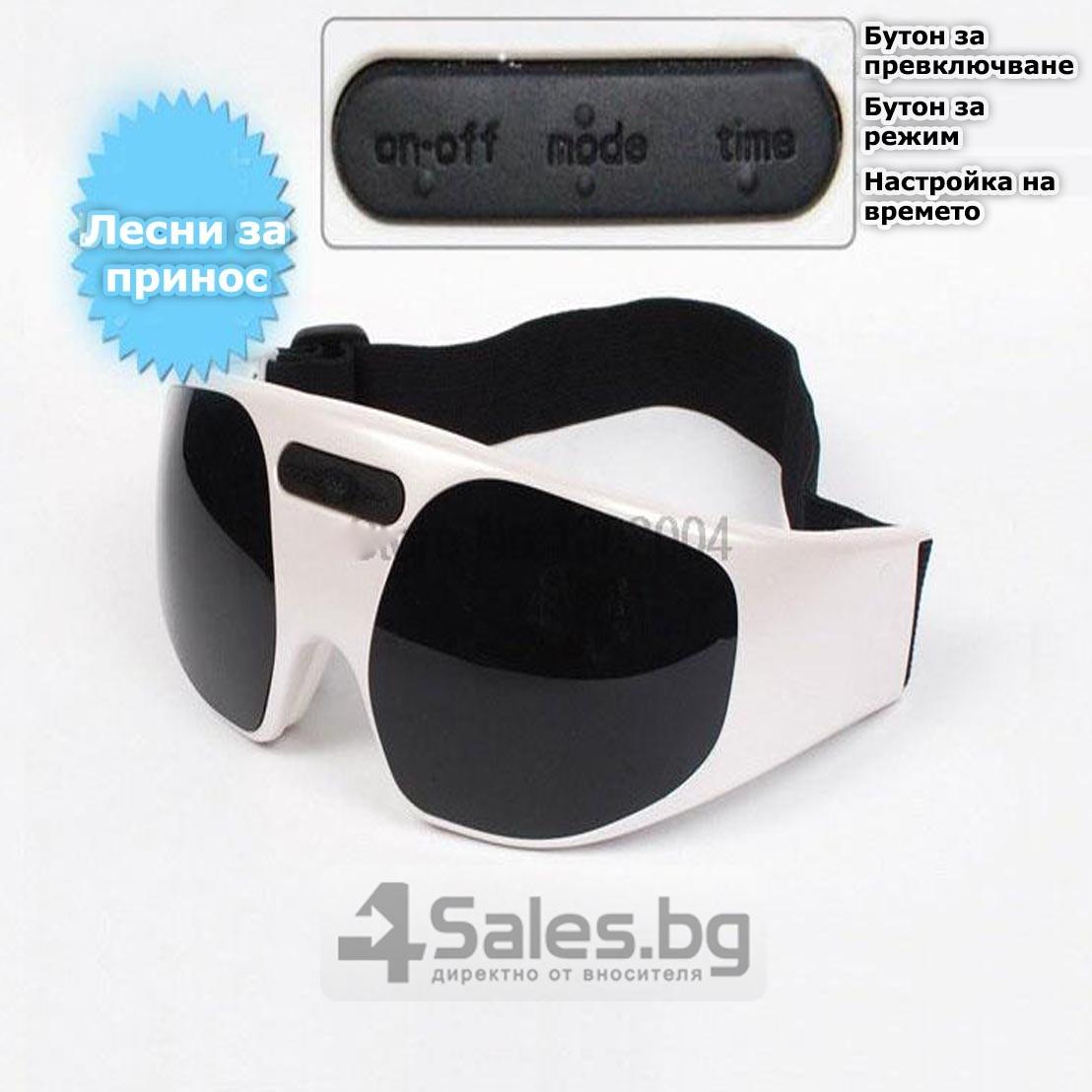 Акупунктурен масажор за очи с вибрации и регулираща се лента TV75 19