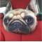 Възглавница за автомобил с щампа куче 1
